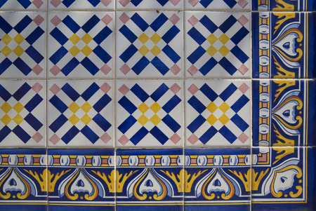 portuguese: Old Portuguese tiles Stock Photo