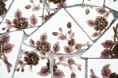 Broken tiles Фото со стока