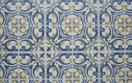 Traditionell portuguese tiles,Europa,Portugal. Stok Fotoğraf