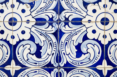 Background of Portuguese tiles