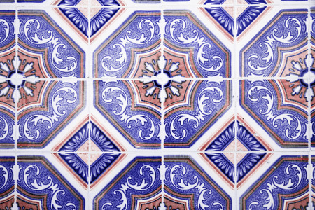 Decorative tiles in the old house