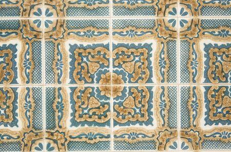 Traditional ornate portuguese decorative tiles 写真素材