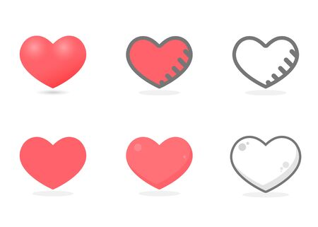 Collection of heart set