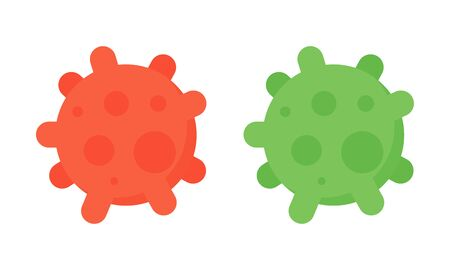covid19. Virus danger icon. Corona Virus symbol