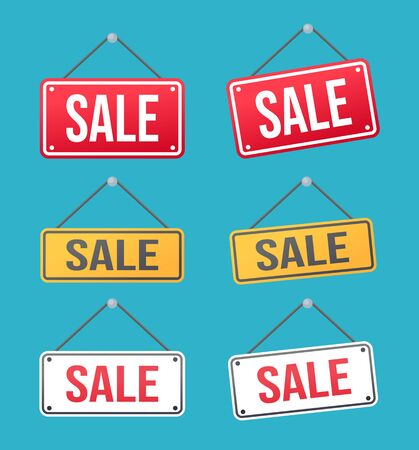 sale stickers product tags labels vector pack isolated Illustration