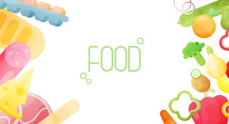Background With Organic Fresh Vegetables. Healthy Food. Fresh food concept