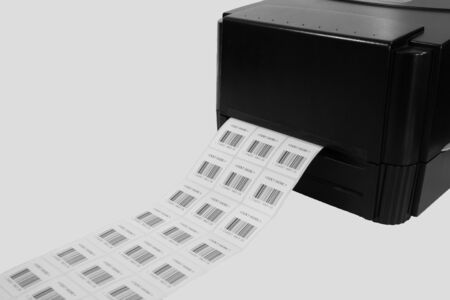 isolated barcode printer on white background 免版税图像