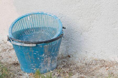 construction blue bucket