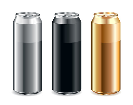 Just set of realistic cans Illustration
