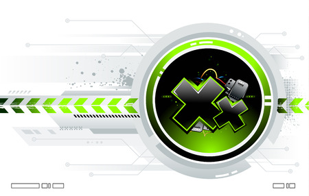 Cool futuristic background for your creative design Vector