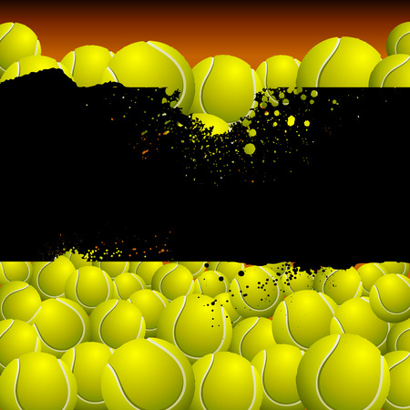 there: Vector background filled with balls. There is a place for your text.