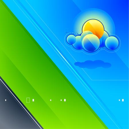 Abstract vector image. High tech landscape. Creative idea. Stock Vector - 6127026