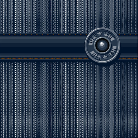 rivet: Jeans textured background. Vector illustration.
