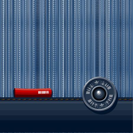 Jeans gestructureerde achtergrond. Vector illustratie. Vector Illustratie