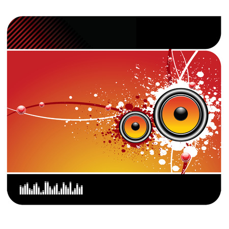 decibel: Modern  musical background with speakers