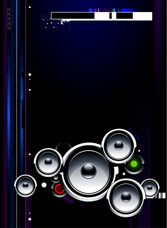 high volume: Cool futuristic background with glossy speakers