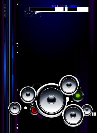 electro: Cool futuristisch Hintergrund mit glossy Lautsprecher