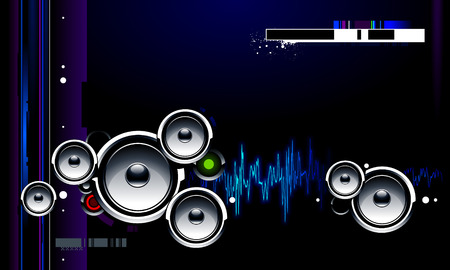 power system: Cool futuristic background with glossy speakers