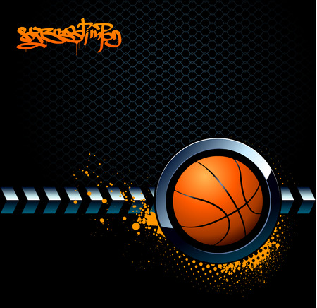 steel balls: Basketball grunge background