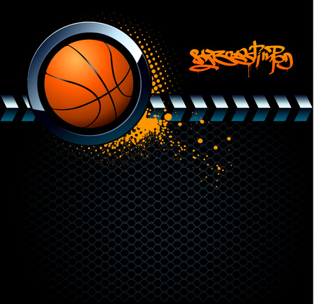 Basketball grunge background Stock Vector - 6131497