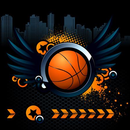Basketball modern image Stock Vector - 6131500