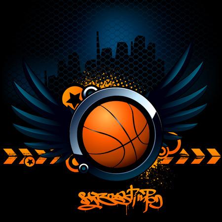Basketball modern image Vector