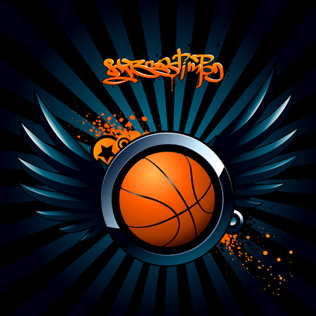 Basketball modern image Stock Vector - 6131485