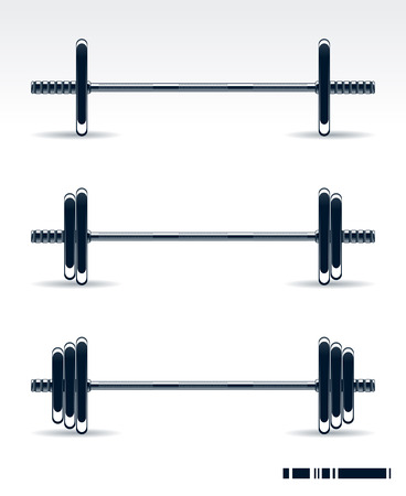 Bodybuilding equipment on white background Vector