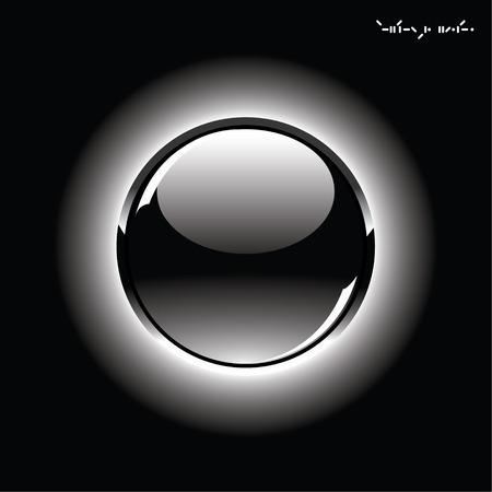 esfera de cristal: Esfera de vidrio brillante sobre fondo negro