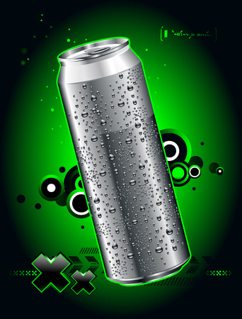 bebidas frias: Somewheare puede realista en el espacio Vectores