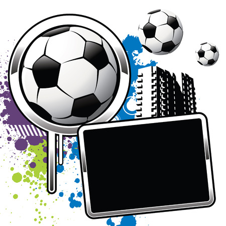 Football attributes on the wall Vector