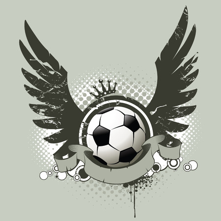 attributes: Football attributes in underground street style Illustration