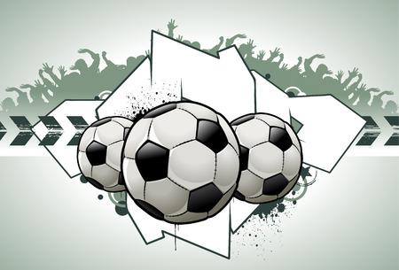 Cool graffiti image with balls Vector
