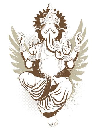 Ethnic image with indian idol Vector