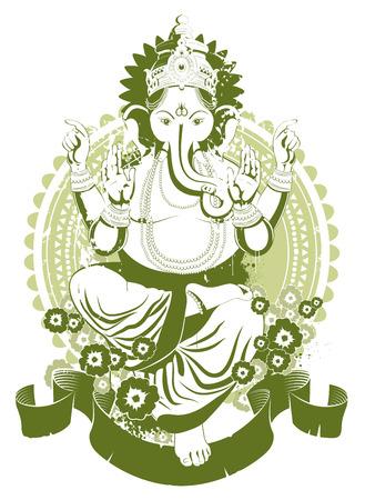 Ethnic image with indian idol Stock Vector - 6189135