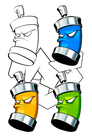 Set of cans for your graffiti image Stock Vector - 6188966