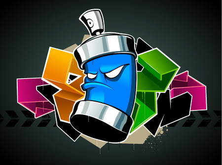 Cool graffiti image with can