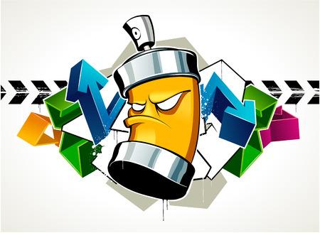 ghetto: Cool graffiti immagine con pu�