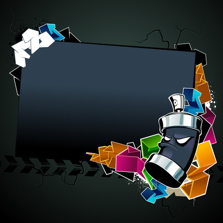 Cool graffiti image with place for your text Vector