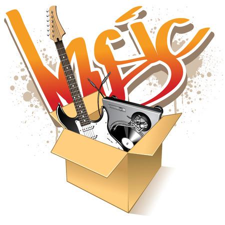decibel: Realistic instrumets in carton box