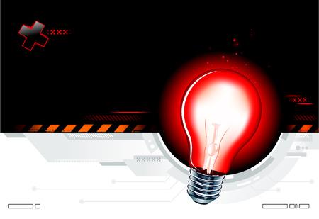 illuminate: High technology background with the lamp Illustration