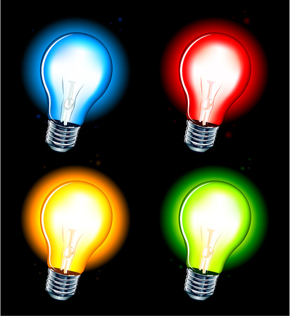 Realistic lamp on white background Stock Vector - 6198504