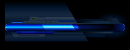 Blue progress indicator. Vector illustration. Vector