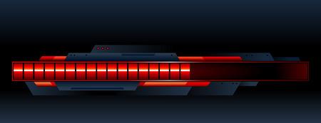 Red progress indicator. Vector illustration. Vector