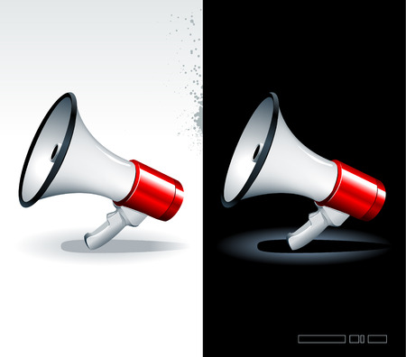 Just set of realistic megaphones Stock Vector - 6198536