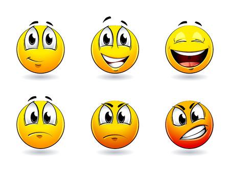 Set of pretty smiles-balls. Vector illustration. Illustration