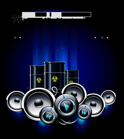 Beautiful grunge background with speakers Stock Vector - 6302094