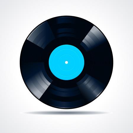 Vinyl disc on white background. Vector illustration. Vector