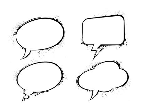 Set of chat bubbles.