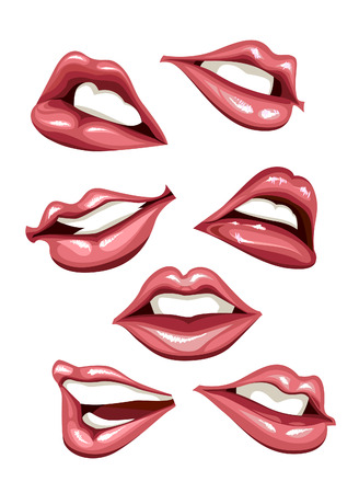 Set of sexy lips. illustration. Illustration